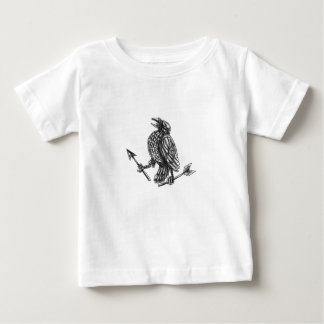 Crow Clutching Broken Arrow Tattoo Baby T-Shirt