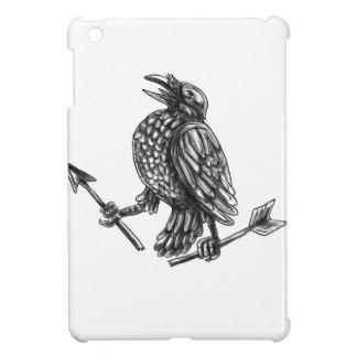 Crow Clutching Broken Arrow Tattoo iPad Mini Case