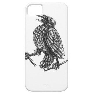 Crow Clutching Broken Arrow Tattoo iPhone 5 Cases