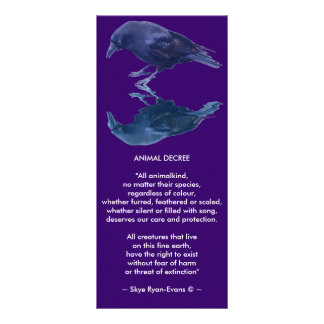CROW Collection Custom Rack Card