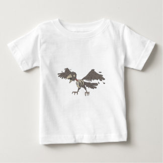 Crow Creepy Zombie With Rotting Flesh Outlined Baby T-Shirt