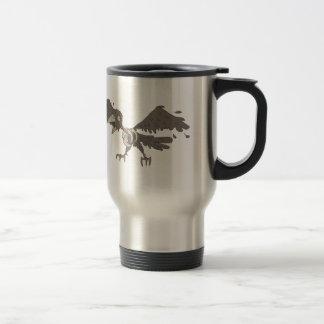 Crow Creepy Zombie With Rotting Flesh Outlined Travel Mug