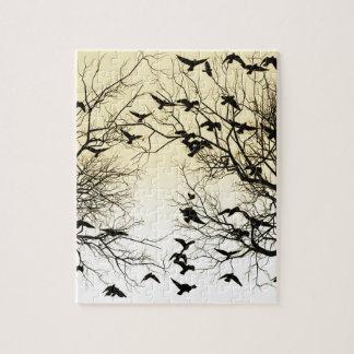 Crow flock jigsaw puzzle