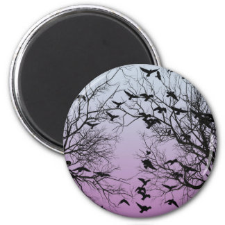 Crow flock magnet