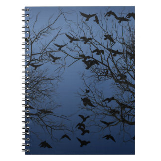 Crow flock spiral notebook