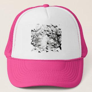 Crow flock trucker hat