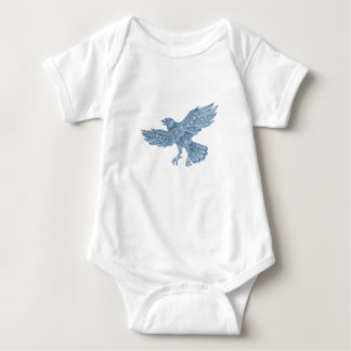 Crow Flying Mandala Baby Bodysuit