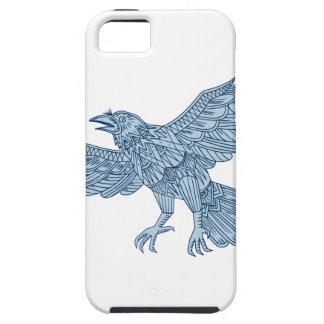 Crow Flying Mandala iPhone 5 Case
