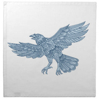 Crow Flying Mandala Napkin