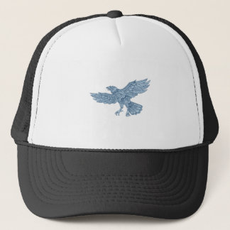 Crow Flying Mandala Trucker Hat