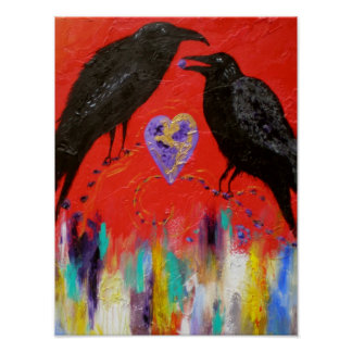 Crow Heart Posters