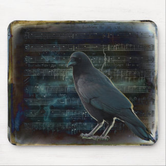 Crow In The Music Mouse Pad