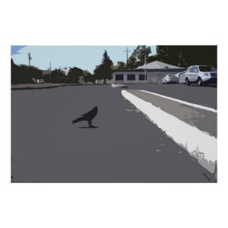 Crow In The Parking Lot Posters