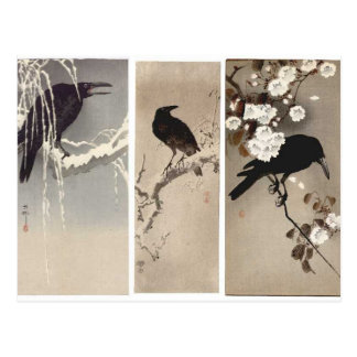 Crow Japanese Art Postcard