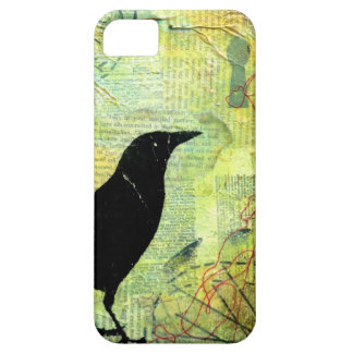 Crow Keyhole Silhouette iPhone 5 Cases