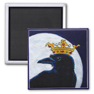 Crow King Crown Moon magnet