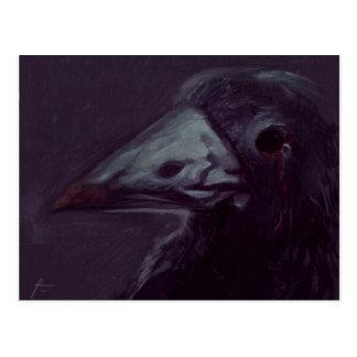 Crow left postcard
