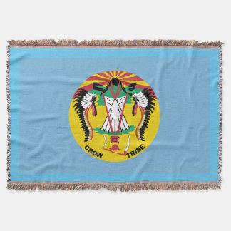Crow Nation Flag Throw Blanket