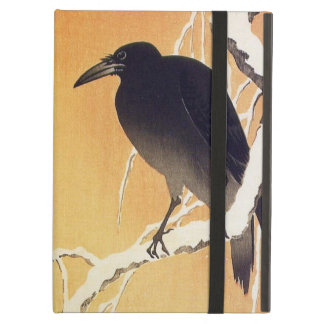 Crow on a Branch by Ohara Koson Vintage iPad Air Covers