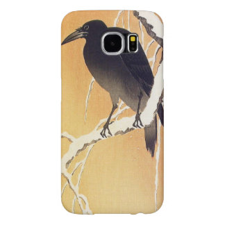 Crow on a Branch by Ohara Koson Vintage Samsung Galaxy S6 Cases