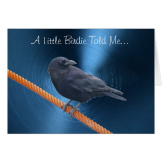 CROW ON A CABLE Greeting Card