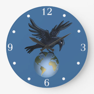 Crow on top of the World - Wall Clock
