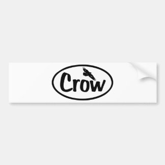 Crow Oval Bumper Stickers