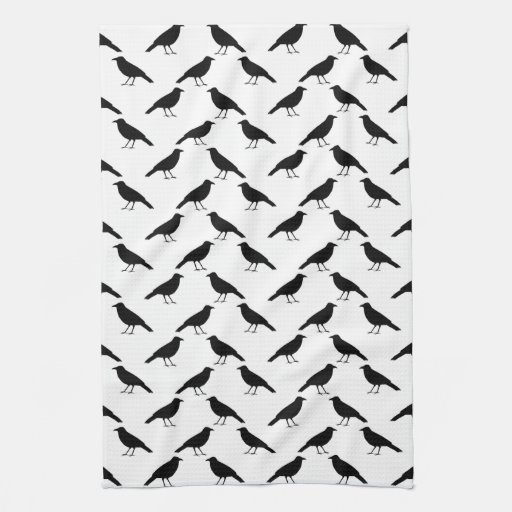 Crow Pattern. Hand Towel