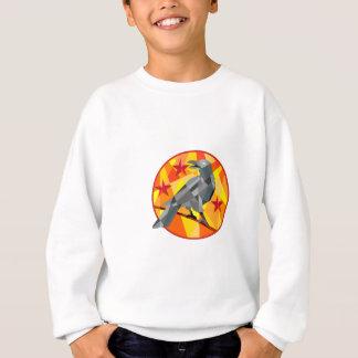 Crow Perch Stars Circle Low Polygon Sweatshirt