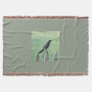 Crow photo throw blanket