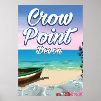 Crow Point , Devon Travel poster