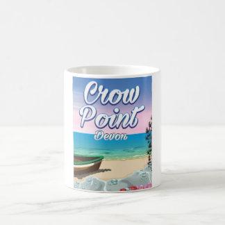 Crow Point , Devon Travel poster Coffee Mug