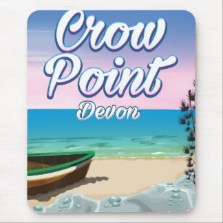 Crow Point , Devon Travel poster Mouse Pad