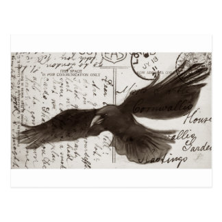 crow postcard background