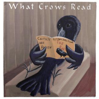 Crow Reading The Raven Funny Cloth Napkin