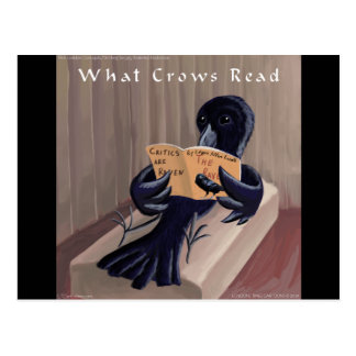 Crow Reading The Raven Funny Postcard