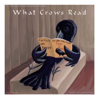 Crow Reads The Raven Rick London Poster