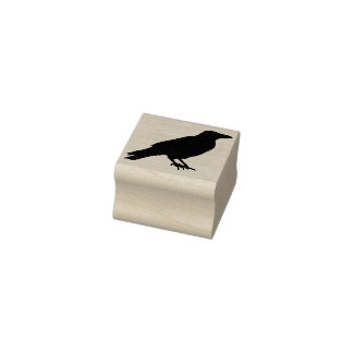 Crow silhouette art stamp