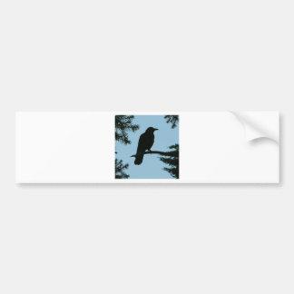 Crow Sitting in Tree Bumper Sticker