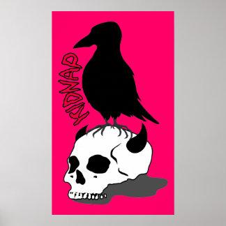 crow-skull poster