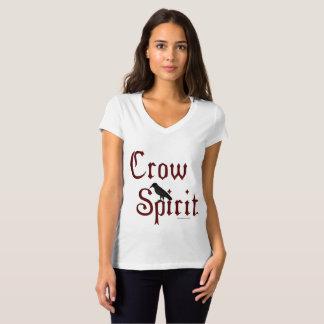 Crow Spirit Ladies V-Neck Jersey T-Shirt
