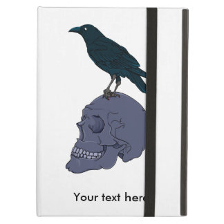 Crow Standing On A Human Skull iPad Air Case
