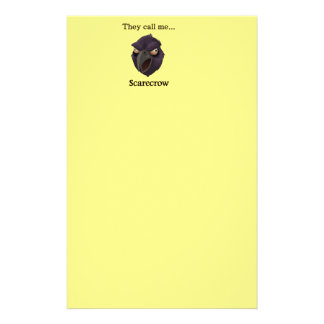 Crow They call me...Scarecrow Personalized Stationery