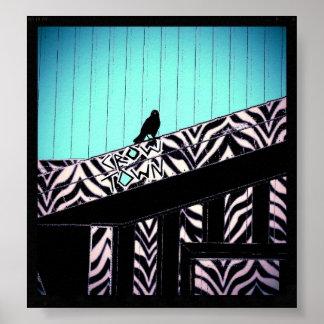 Crow Town Blue Indigo Poster