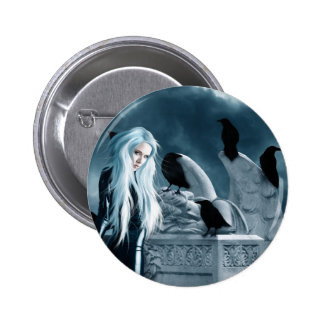 Crow Witch Button