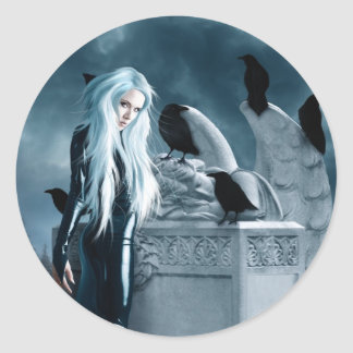 Crow Witch Large Sticker