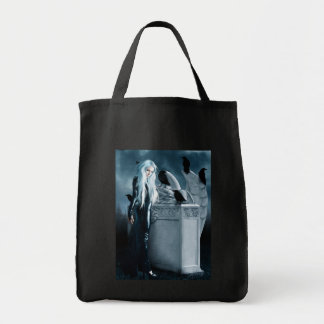 Crow Witch Tote Grocery Tote Bag