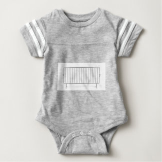 Crowd control fence baby bodysuit