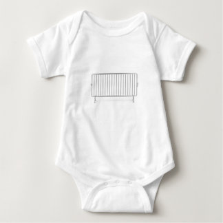 Crowd control fence baby bodysuit