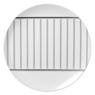 Crowd control fence plate